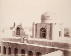 Tatta, Karachi District, Sindh. Diwan Shurfakhan's Tomb, from south-east